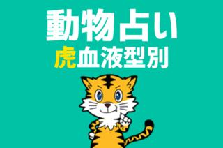【動物占い×血液型】「虎」の血液型別診断と相性の良いどうぶつの紹介